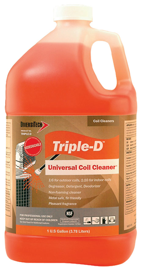 1 Gallon Triple D? Universal Coil Cleaner, Concentrate, Clear Orange Liquid - Triple D Universal Coil Cleaner